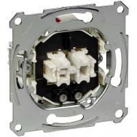 Выключатель двухклавишный с подсветкой, механизм, D-Life Merten MTN3135-0000