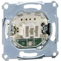 Переключатель одноклавишный проходной с подсветкой, механизм, D-Life Merten MTN3136-0000