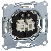 Кнопочный выключатель двухклавишный с подсветкой, механизм, D-Life Merten MTN3165-0000