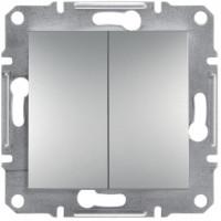 Выключатель двухклавишный, Алюминий Asfora, EPH0300161