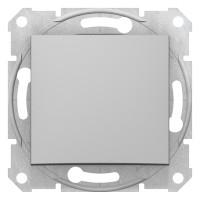 Одноклавишный выключатель10А-250В, Алюминий, Sedna SDN0100160