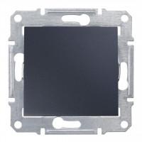 Одноклавишный выключатель10А-250В Графит, Sedna SDN0100170